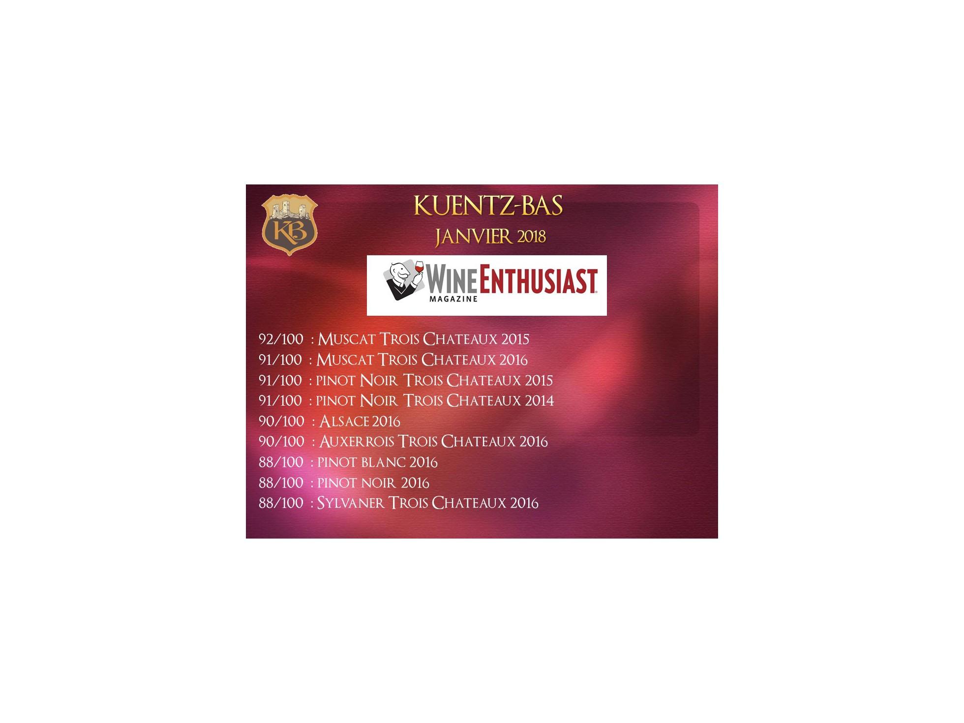 WINE ENTHUSIAST Janvier 2018